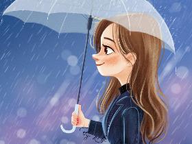 雨声潺潺,像住在溪边